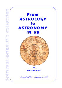 From From ASTROLOGY ASTROLOGY toto ASTRONOMY