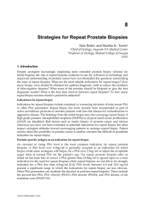 Strategies for Repeat Prostate Biopsies