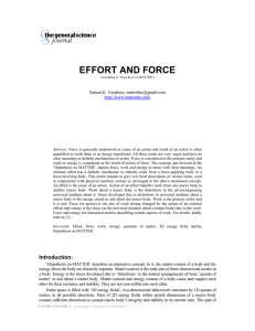 Effort and Force - The General Science Journal