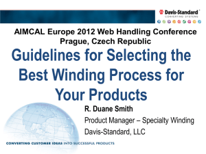 Guidelines for Selecting the Best Winding Process for Your Products