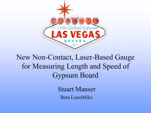 Non-Contact Laser Gauge Advantages