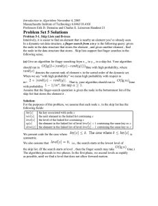Introduction to Algorithms November 4, 2005