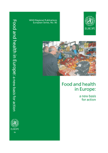 Food and health in Europe: a new basis - WHO/Europe