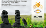 Schemaless database storage (PostGIS) with FME