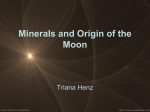Minerals and Origin of the Moon - Lunar and Planetary Laboratory