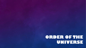 Order of the Universe