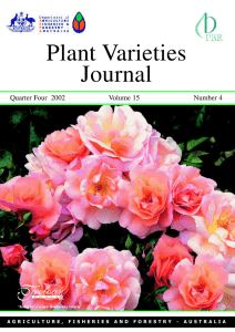Plant Varieties Journal