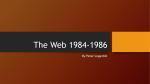 The Web 1984-1986