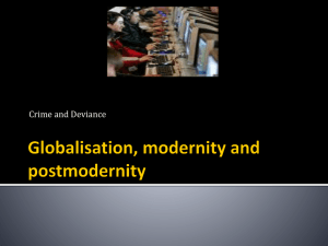 Globalisation, modernity and postmodernity