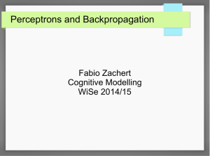 Perceptrons and Backpropagation