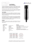 Tone Shaping Included Large Diaphragm Dynamic Microphone