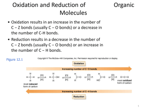 Oxidation and Reduction of Organic Molecules