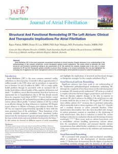 Structural And Functional Remodeling Of The Left Atrium: Clinical