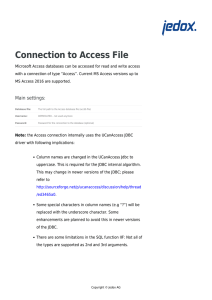 Connection to Access file