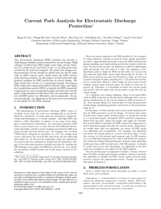 Current Path Analysis for Electrostatic Discharge Protection