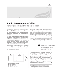 Audio Interconnect Cables