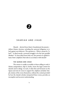 shariah and jihad - The Oak Initiative