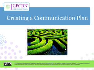 Developing a Communication Plan