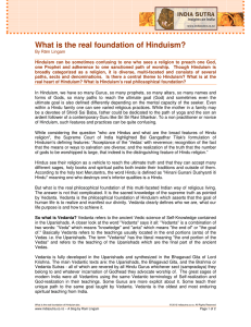 What is the real foundation of Hinduism?