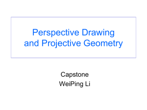 Perspective Drawing and Projective Geometry
