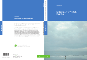 Epidemiology of Psychotic Disorders