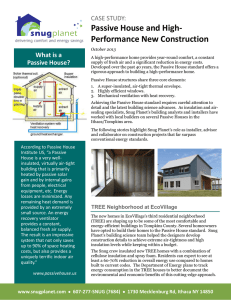 Passive House and High- Performance New