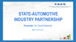 State and Autosector partnership (AIDC)- Dr David