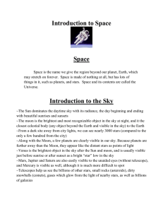 Introduction to Space
