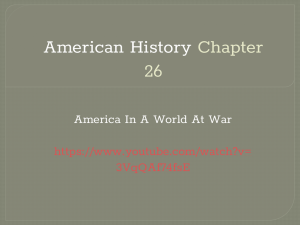American History Chapter 26