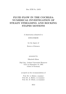 Fluid Flow in the Cochlea - ETH E-Collection