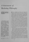 A Statement of Marketing Philosophy