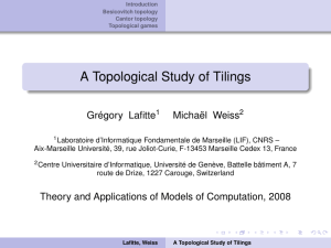 A Topological Study of Tilings