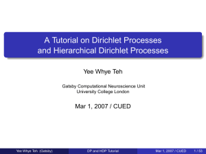 A Tutorial on Dirichlet Processes and Hierarchical Dirichlet Processes