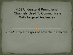 4.02 Understand promotional channels used to communicate with