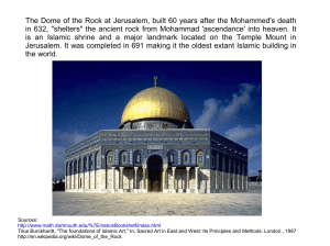 The Dome of the Rock at Jerusalem, built 60 years after the