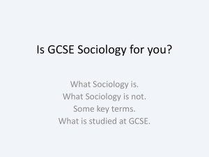 Is GCSE Sociology for you?