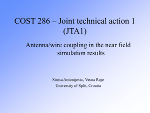 COST 286 – Joint technical action 1 (JTA1)