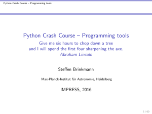 Python Crash Course – Programming tools