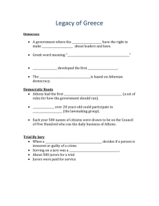 Legacy of Greece Guided Notes