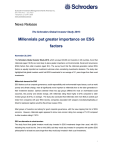 Millennials put greater importance on ESG factors