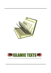 Islamic texts - One Faith One Church