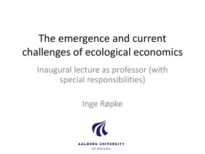 The emergence and current challenges of ecological
