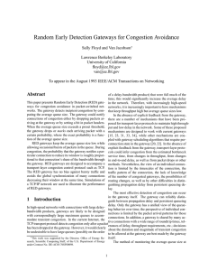 Random Early Detection Gateways for Congestion Avoidance