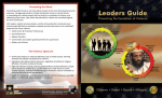 Leaders Guide for Preventing Violence Brochure