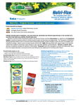 Nutri-Flex Liquid - Original Formula Information Sheet