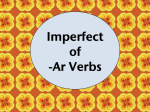 Imperfect of -ar verbs