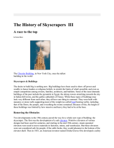 The History of Skyscrapers III - Engineering and Technology History
