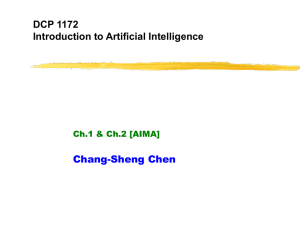 CS 561a: Introduction to Artificial Intelligence