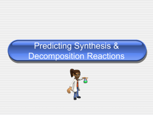 Predicting synthesis and decomposition reactions
