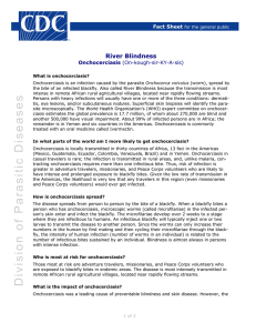 River Blindness Fact Sheet